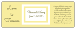 "OL6200 - 7"" x 2.5"" - Love is Forever Wedding Wine Bottle Label"