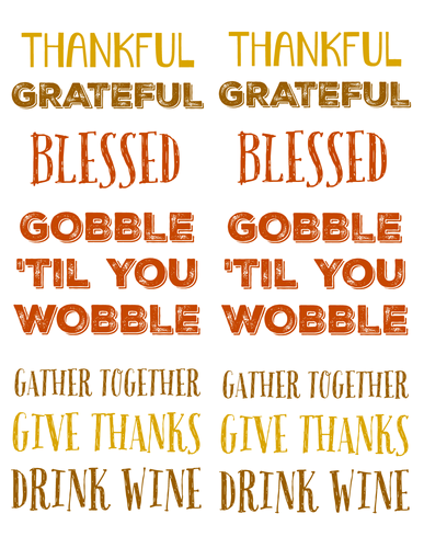 Thanksgiving Sayings Labels pre-designed label template for OL150