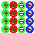"OL5275 - 0.75"" Circle - Candy Kisses Holiday Labels"