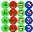 Candy Kisses Holiday Labels
