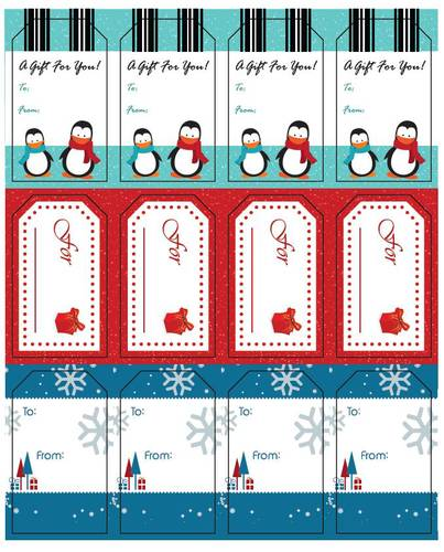 "OL1763 - 1.75"" x 3"" - Assorted Holiday Gift Tags"
