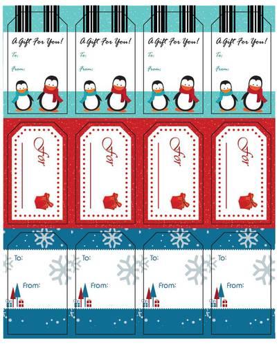 "OL1763 - 1.75"" x 3"" - 2015 Holiday Gift Tags"