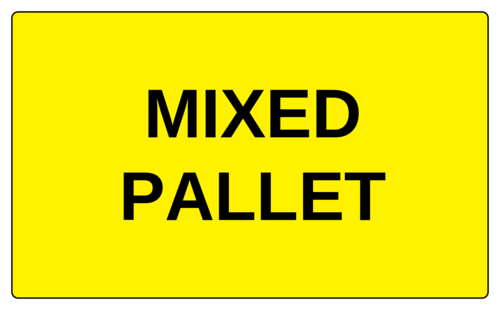 "OL6675 - 5"" x 3"" - Mixed Pallet Label"