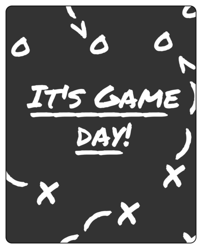 "OL475 - 4"" x 5"" - Game Day Wine Label"