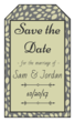 "Olive ""Save the Date"" Gift Tag Label"
