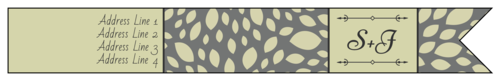 """OL1758 - 7.5"""" x 1"""" - Olive """"Save the Date"""" Wrap-Around"""