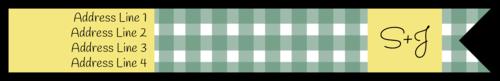 "OL1758 - 7.5"" x 1"" - Picnic Style Wrap Around"