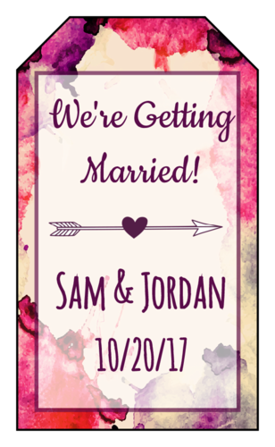 "OL1763 - 1.75"" x 3"" - Watercolor ""Save the Date"" Label"
