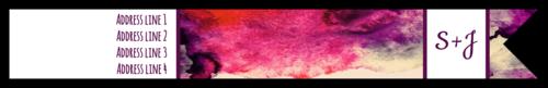 "OL1758 - 7.5"" x 1"" - Watercolor Wrap-Around Label"