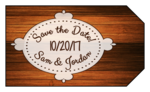 "Wood Grain ""Save the Date"" Gift Tag"