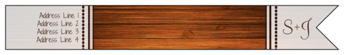"OL1758 - 7.5"" x 1"" - Wood Grain Wrap-Around Address Label"
