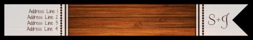 """OL1758 - 7.5"""" x 1"""" - Wood Grain Wrap-Around Address Label"""