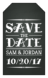 Chalkboard Save the Date Gift Tag Label