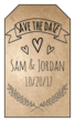 "Organic ""Save the Date"" Gift Tag"
