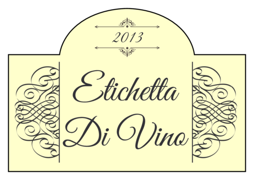 Classic Wine Label pre-designed label template for OL544