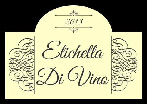 "OL544 - 3.5"" x 2.4031"" - Classic Wine Label"