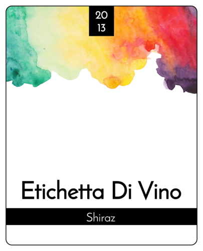 "OL475 - 4"" x 5"" - Water Color Wine Label"