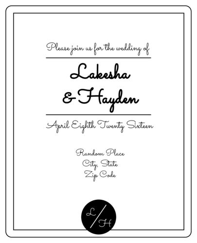 "OL475 - 4"" x 5"" - Simplistic Wedding Wine Bottle Label"