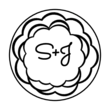 Black and White Floral Envelope Seal
