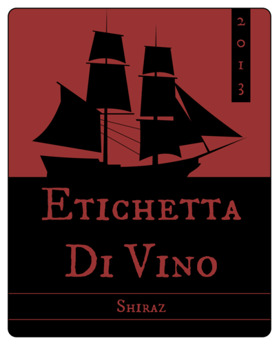 "OL475 - 4"" x 5"" - Ship Sailing Wine Bottle Label"