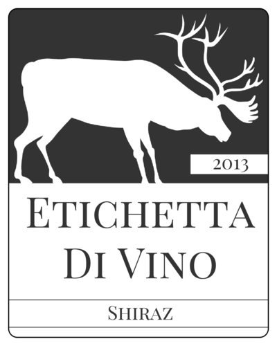 "OL162 - 3.75"" x 4.75"" - Elk Wine Label"
