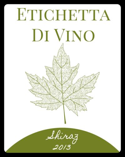 "OL162 - 3.75"" x 4.75"" - Leaf Wine Label"