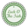 Luck O' The Irish Circle Label