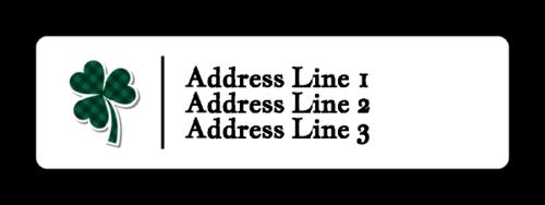 """OL25 - 1.75"""" x 0.5"""" - Shamrock Address Label"""