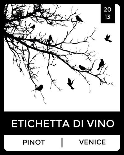 bird silhouette wine label - label templates
