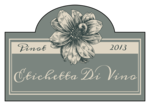 Vintage Floral Wine Label