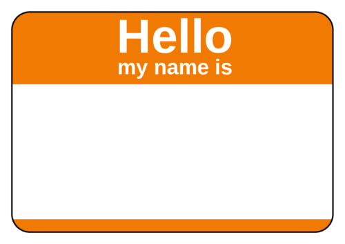 "OL5030 - 3.375"" x 2.3125"" - Orange Name Tag"