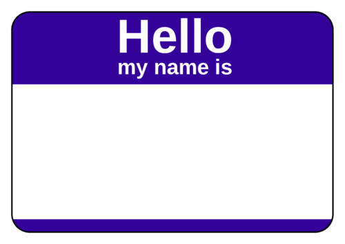 "OL5030 - 3.375"" x 2.3125"" - Purple Name Tag"