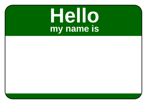 Green Name Tag pre-designed label template for OL5030