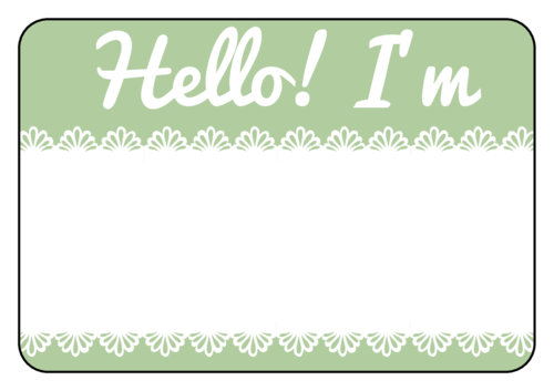 Name Tag Label Templates Hello My Name Is Templates - Name tags templates