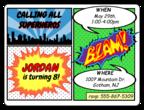 Comic Book Birthday Invite