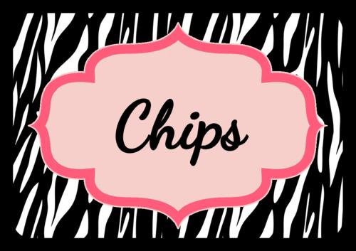 "OL5030 - 3.375"" x 2.3125"" - Zebra Birthday Snack Label"