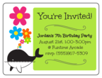 Whale Birthday Party Invite