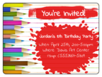 Art Birthday Party Invite