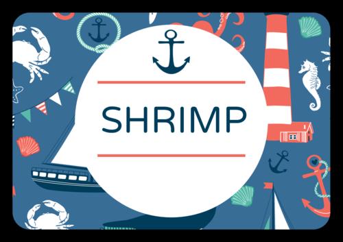 "OL5030 - 3.375"" x 2.3125"" - Nautical Birthday Snack Labels"