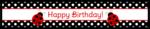 Ladybug Birthday Water Bottle Labels