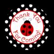 Ladybug Birthday Gift Tag Labels