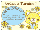 Teddy Bear Birthday Invite