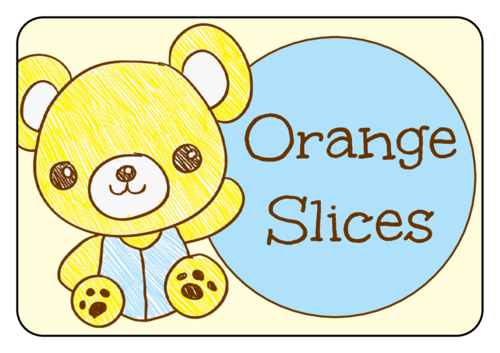"OL5030 - 3.375"" x 2.3125"" - Teddy Bear Birthday Snack Labels"