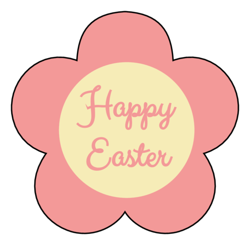 Happy Easter Flower pre-designed label template for OL260