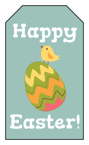 "OL1763 - 1.75"" x 3"" - Happy Easter Chick and Egg"