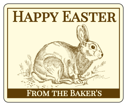 "OL150 - 4"" x 3.33"" - Happy Easter Wine Label"