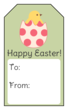 Happy Easter Chick Gift Tag