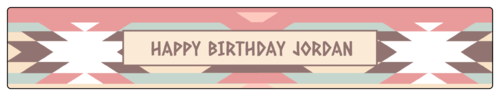 """OL435 - 8.1875"""" x 1.375"""" - Western Birthday Party Water Bottle Labels"""