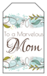 Floral Mother\'s Day Gift Tag
