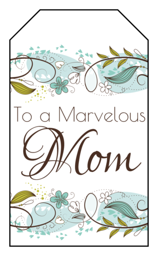 "OL1763 - 1.75"" x 3"" - Floral Mother's Day Gift Tag"